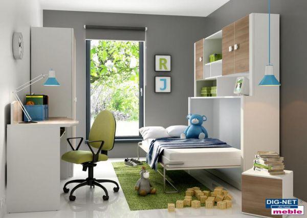 Półkotapczan dla chłopca - tapczan półka - łóżko w szafie