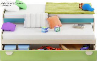 Pik-Pok podwójne łóżko z szufladą
