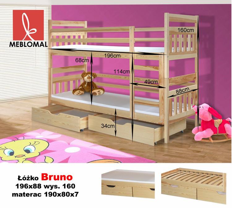 łóżko Piętrowe Bruno Intermeble24pl