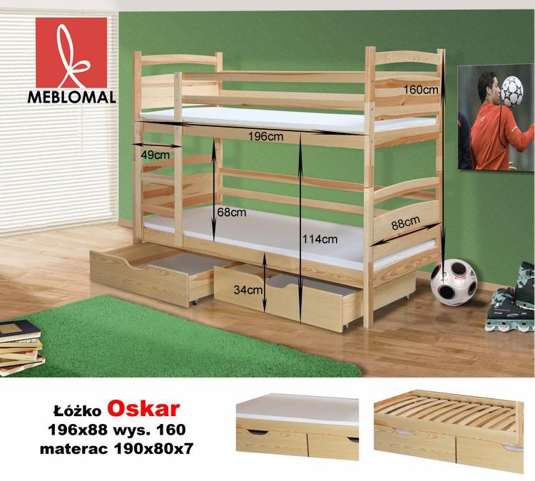 łóżko Piętrowe Oskar Intermeble24pl