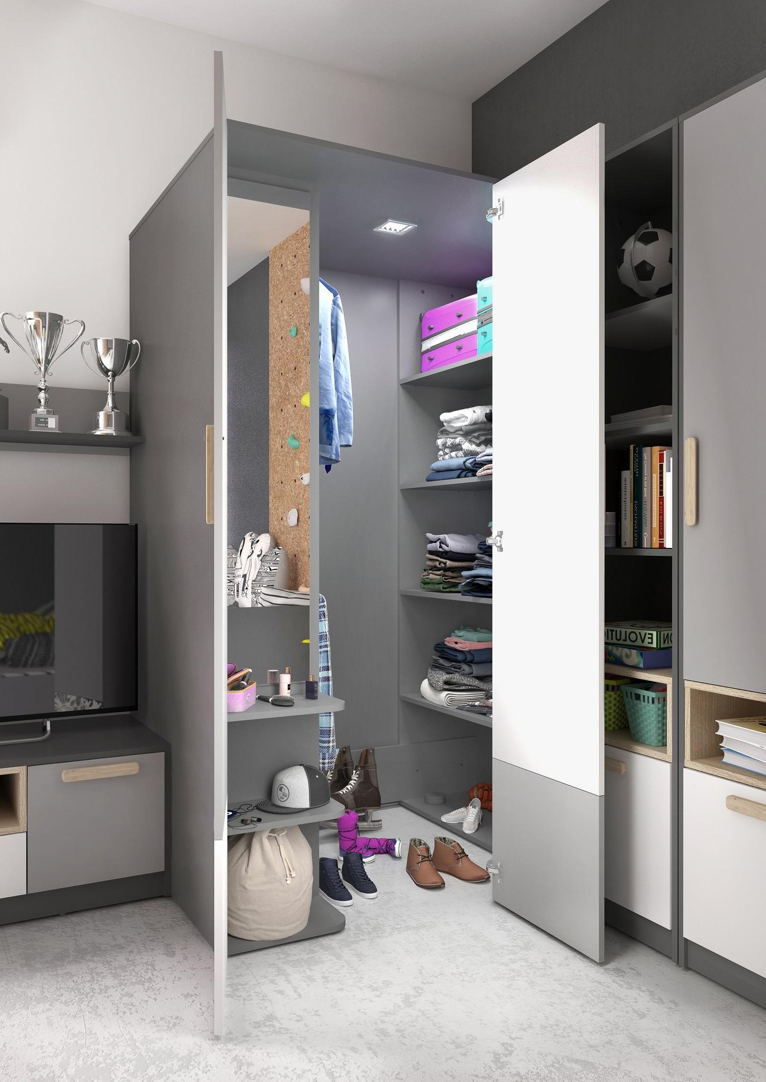 wnętrze szafy garderoby POK PO-00 LEWA